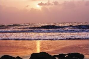 海の夕日1