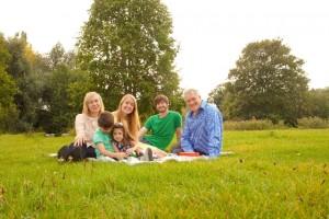 高原の家族1